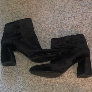 Nine West Black Velvet Booties